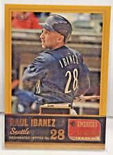 Raul Ibanez 2013 Panini Americas Pastime GOLD Parallel #'d 5/25 SEATTLE MARINERS