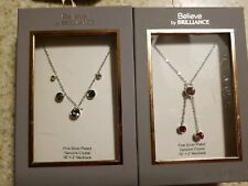 NWT Believe by Brilliance Fine Silver Plated Genuine Crystal Necklace