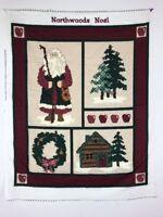 Cranston VIP Fabric Northwoods Noel Santa Christmas ONLY 1 Panel No Directions