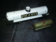 Lot de 2 wagons citerne POLAMIX (long : 32 cm) JEP???  & ESSO HORNBY - échelle 0