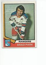 BRAD PARK 1974-75 Topps Hockey card #50 New York Rangers EX+/NR MT