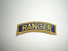 US ROTC RANGER TAB PATCH - YELLOW ON BLUE
