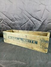 More details for rare old black & white scotch whisky empty wooden ye olde christmas spirit crate