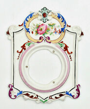 Horloge pendule façade habillage cadre céramique polychrome clock dressing