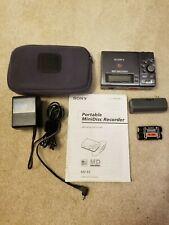 Sony Mz-R3 MiniDisc Player/Recorder, Power Supply, Discs and Case