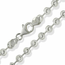 "925 STERLING SILVER 18"" SOLID BEAD BALL CHAIN LINK  PENDANT NECKLACE GIFT BOX"