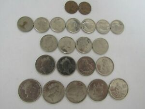 Lot of 22 Different Fiji Coins - 1969 to 2017 - Circulated