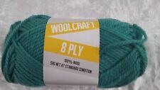 Woolcraft 8 Ply Knitting Yarn #1008 Teal 50g Machine Washable Wool
