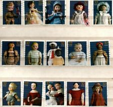 1997 AMERICAN DOLLS COMPLETE SET OF US COMMEMORATIVE STAMPS - USED