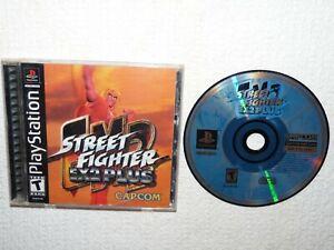 Street Fighter EX2 Plus (PlayStation PS1, 2000) Complete Fighting Game Reg. Card