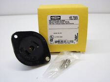 Hubbell Twist-Lock Flanged Inlet, 2P3W, 15A 125V, ML-2P, Black Nylon HBL7596N