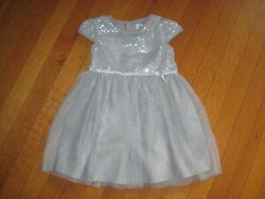 Girls 3T Carter/'s Sleeveless Sequin Dress Silver