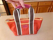 COACH Nylon Leather Handbag 6260 Bag Small Tote Purse Canvas Red Zip