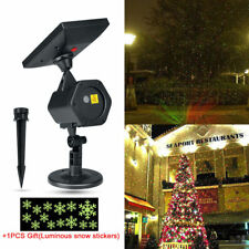 Solar Powered Laser Lights Projector Garden Shower Xmas Party Club Home Lighting