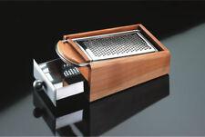 ATTESA grattugia inox base legno ciliegio Impugnatura legno,cm 30x14.5x10