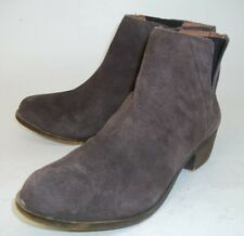 Lucky Brand Womens Boots Ankle BENISSA US 6 M Brown Suede Pull On Heel  459