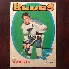 1971-72 Topps Set JIM ROBERTS #116 ST. LOUIS BLUES - EX-MINT *HIGH GRADE*