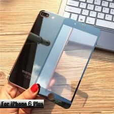 Front + Back Black Mirror Tempered Glass Case Screen Protector for iPhone 6 Plus