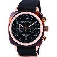 Briston Clubmaster Classic Acetate Rose Gold Chronograph 40mm Black Nylon Watch