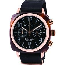 Briston Clubmaster Classic Acetate Rose Gold Chronograph 40mm Black Nylon Watch