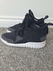Adidas Size 3 Black Trainers Hightop Tubular Ortholite