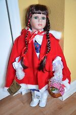 "Connoisseur Collection Seymour Mann RED RIDING HOOD Porcelain 24"" doll"
