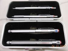 ROTRING 600 FOUNTAIN BALLPOINT ROLLERBALL PENCIL SET  PEN IN RARE LEVENGERS BOX