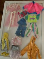 Lot VINTAGE 1980s Barbie Doll Clothes Heart Family Pink Dress Black Label Skirt