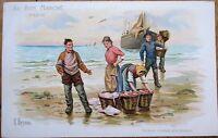 Auguste Besnou/Artist-Signed 'Au Bon Marche,' Paris 1910 Nautical Ad Print - 2