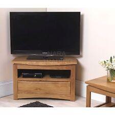 Crescent solid oak furniture corner TV DVD cabinet stand unit