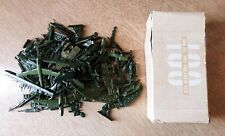 1960's Comic Book Flats Toy Soldiers Lucky Products 92 pieces w/footlocker