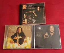 Lot Of 3 Kenny G Christmas CDs Miracles Faith Wishes Holiday Album