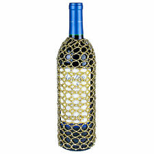 GOLD SEED BEAD WINE BOTTLE COVER SKIRT, Many More Styles Available