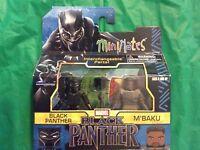 MINIMATES BLACK PANTHER & M'BAKU