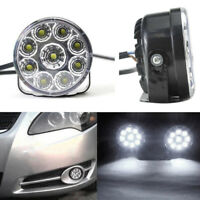 2PCS 9 LED Car Round DRL Daytime Running Day Driving Spot Bulb Fog Light Lamp