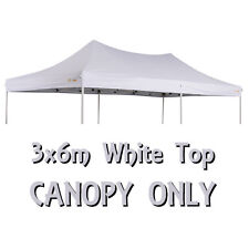 OZTRAIL 6x3m (WHITE) CANOPY ROOF DELUXE GAZEBO REPLACEMENT PAVILION COVER TOP