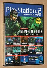 PS 2 revista oficial demo DVD Metal Gear Solid 3 Constantine area 51 04/2005