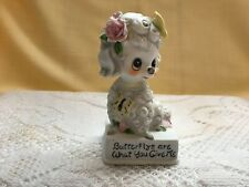 Joseph Originals Butterflies Are What You Give Me Bisque Figurine Valentine Gift