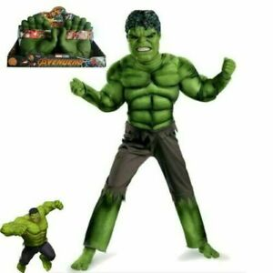 Incredible Kids Hulk Avengers Costume 3-8 Boys Boys Party Fancy Cosplay Outfit#