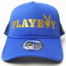 Playboy × New Era 9FORTY A-FRAME TRUCKER Mesh Cap Royal Gold Snap Back OneSize