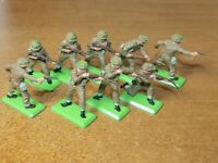BRITAINS DEETAIL, WW2, 9 X BRITISH ARMY INFANTRY,...1/32 TOY SOLDIERS.