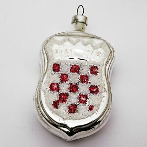 Glass Christmas Tree Decoration Coat of arms of Croatia and City of Zagreb