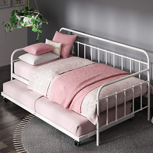 FlorenceTwin Daybed andTrundleFrame Set / Premium Steel Slat Support Twin