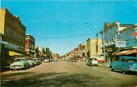 Automobile Main Street Shawano Wisconsin Servi's Teich Postcard 20-10444