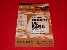 [Collection J. LE BOURHIS / AFFICHES] GARCIA LORCA NOCES DE SANG ANGERS 66 CDO