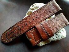 26mm, munición cuero hecho a mano de la vieja escuela vintage, correa de reloj, Panerai, Marrón