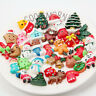 Lots Diy Button Flatback Craft Merry Mix Phonecover Scrapbook Christmas Resin