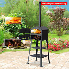 Outsunny Pizza Oven Outdoor Charcoal BBQ Barbecue Grill Garden Heater Cooker