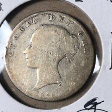 1845 Great Britain Half 1/2 Crown Queen Victoria Silver Coin