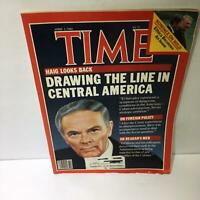 Time Magazine April 2 1984 Haig Looks Back Drawing The Line In Central America